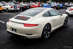 Porsche 911 50th with the entire front end protected with XPEL ULTIMATE self-helaing clear bra