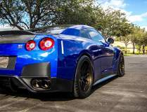 Jimmy Alvarez's Nissan GT-R on Forgeline DE3C Concave Wheels