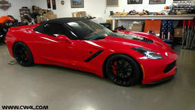 Chris' C7Z51 Corvette Convertible on Forgeline One Piece Forged Monoblock GA1R Wheels