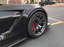 Eric's C7 Corvette Z06 on Forgeline One Piece Forged Monoblock VX1R Wheels in Black Chrome PVD
