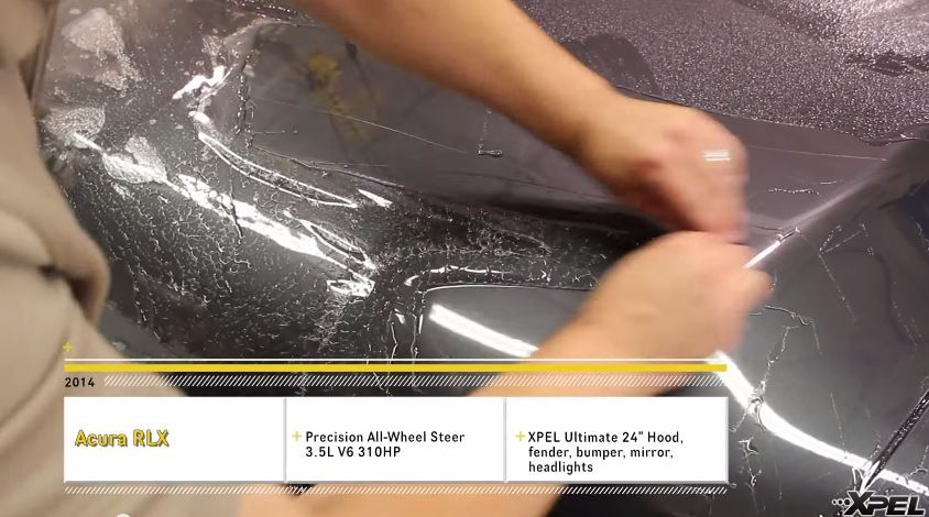 2014 Acura RLX | 2014 Acura RLX with All Wheel Steer gets XPEL Self-Healing Paint Protection Film Clear Bra