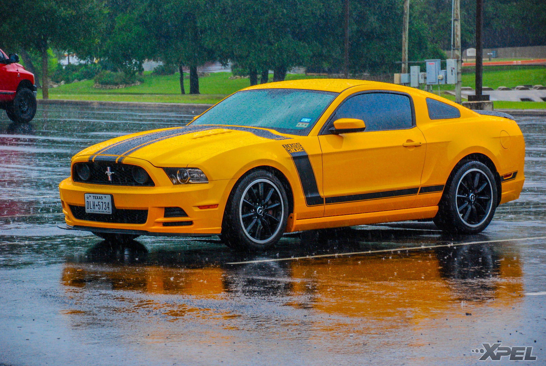 Ford Mustang | Nice Boss Mustang during the rain at Cars and Coffee San Antonio