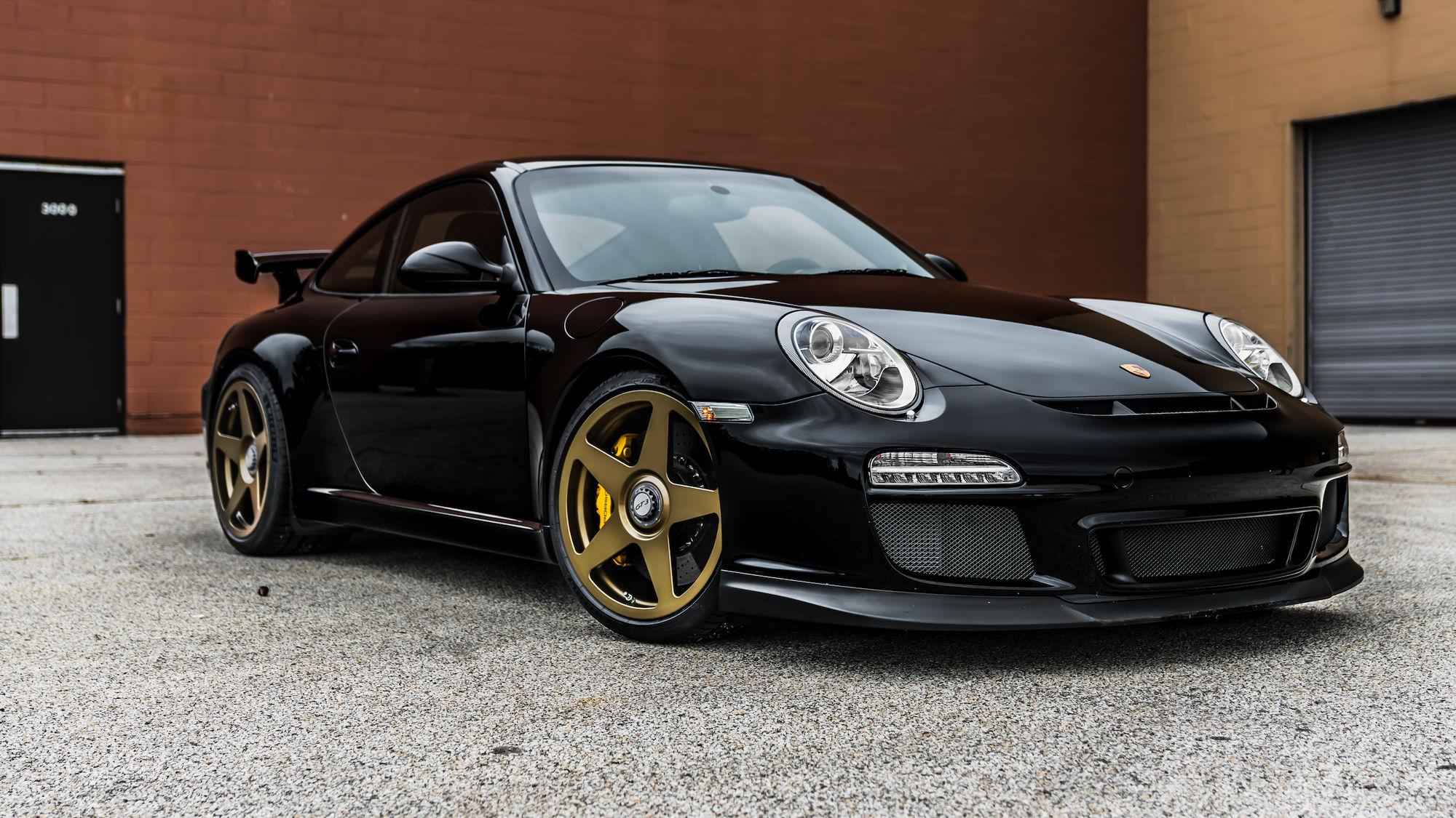 2011 Porsche 911   Roadster Shop-Prepped Porsche 997 GT3 on Center Locking Forgeline One Piece Forged Monoblock FF1 Wheels