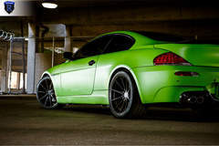 Green BMW 6 Series - Side View