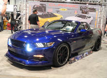 Supercharged S550 Mustang Convertible on Grip Equipped Grudge Wheels