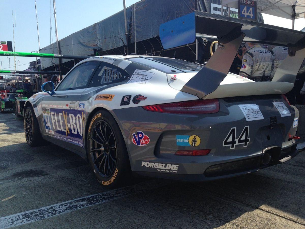 2014 Porsche 911 | Magnus Racing's #44 GTD Porsche on Forgeline One Piece Forged Monoblock GTD1 Wheels Third at Watkins Glen