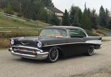 Robbie's Pro-Touring '57 Chevy Bel Air on Forgeline RB3C Wheels - Side View