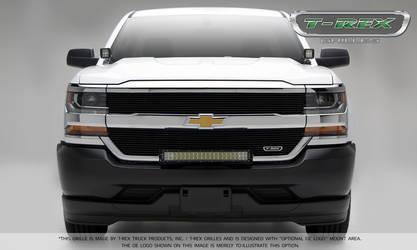 2016 Chevrolet Silverado 1500 Laser Billet Grille, Overlay - Black - Pt # 6211271
