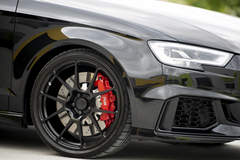 Dave Dessent's Audi RS3 on Forgeline One Piece Forged Monoblock GA1R Open Lug Wheels