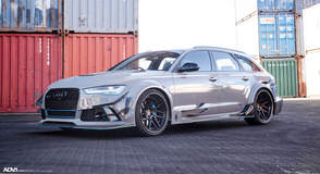 Nardo Gray Carbon Fiber Widebody Audi RS6 Avant - ADV.1 Wheels ADV7R Track Spec CS