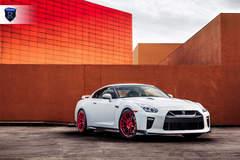 White Nissan GTR - Front