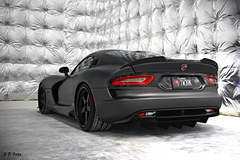 Ryan Frankenfield's Anodized Carbon Special Edition Dodge Viper GTS on Forgeline Heritage Series FF3 Wheels - Rear Shot