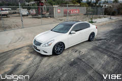 2009 Infiniti G37 on Velgen Wheels - Shot From Up Top