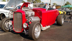 Clean Ford Hot Rod with a Flathead V8