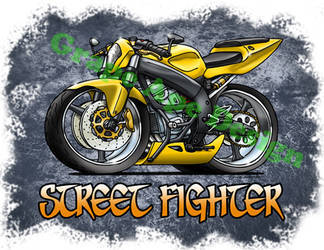 Street Fighter sportbike art design