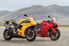 Ducati 1199 Panigale vs. EBR 1190RX – Superbike Comparison Test