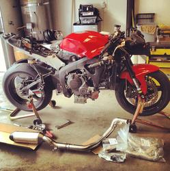 2008 Honda CBR600RR | 2008 Honda 600rr pipe swap