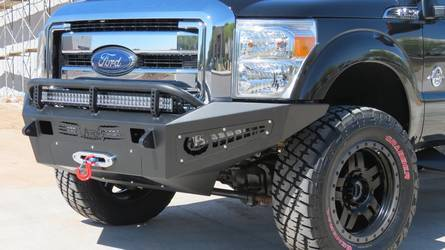 2011- Up Honey Badger Front Bumper w/Winch mount