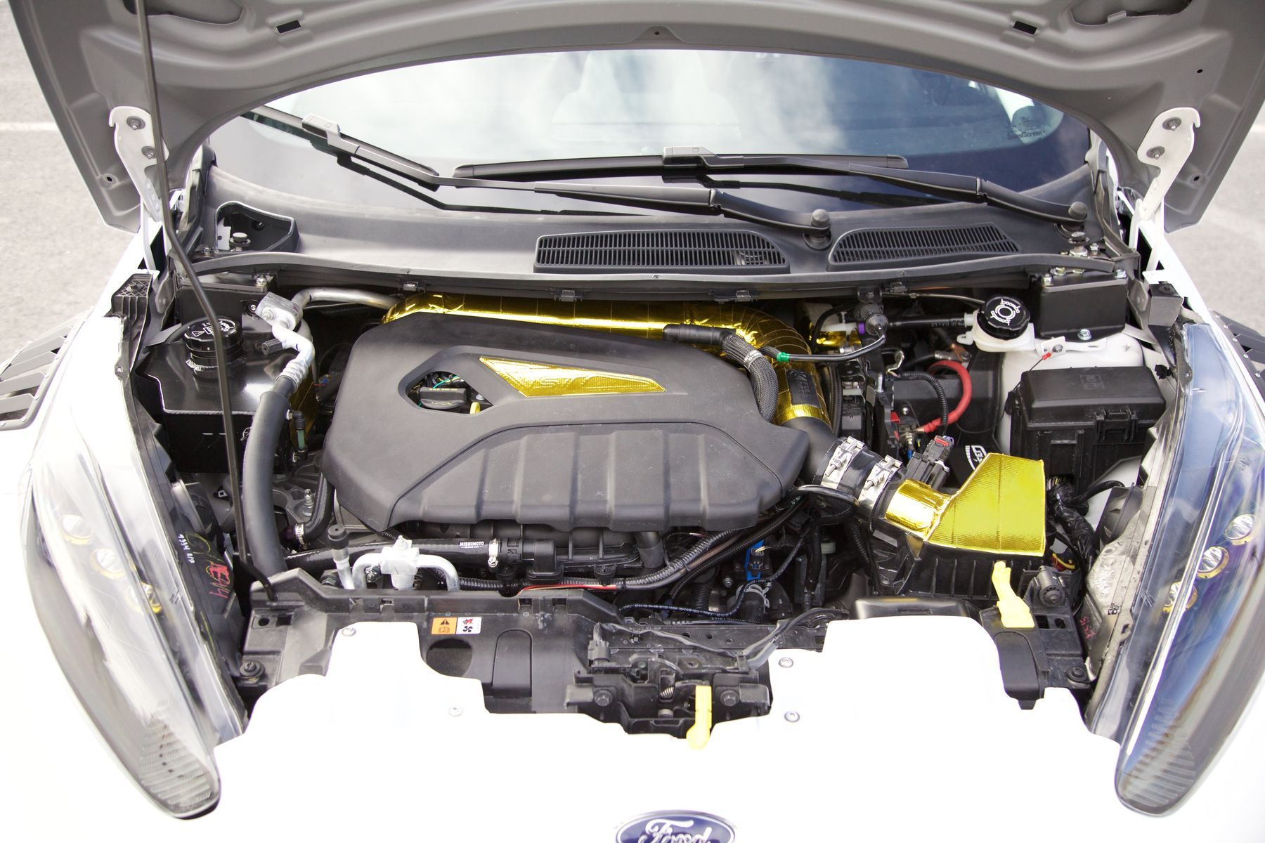2016 Ford Fiesta St By Tucci Hot Rods Engine Bay