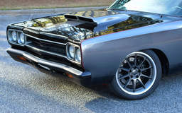 Forsyth County Customs' 1969 Plymouth Road Runner on Forgeline RB3C Concave Wheels - Front Stance