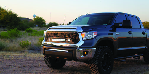 Rigid Industries lights on this 2014 Toyota Tundra