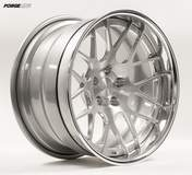 Forgeline DE3C Concave with Brushed Center and Polished Outer