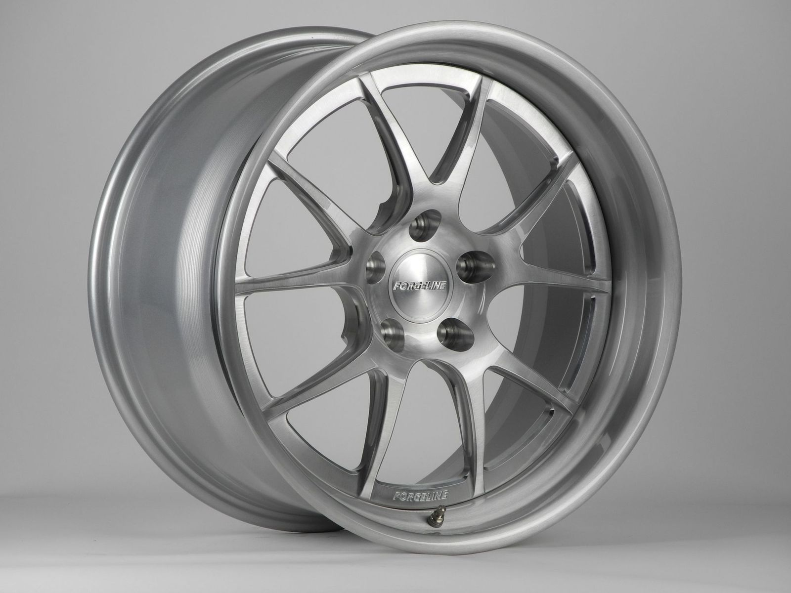 |  Forgeline GA3 In Brushed with High Gloss Clear
