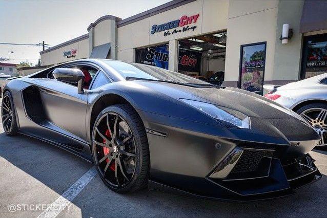 Lamborghini Aventador   XPEL STEALTH matte finish self-healing clear bra