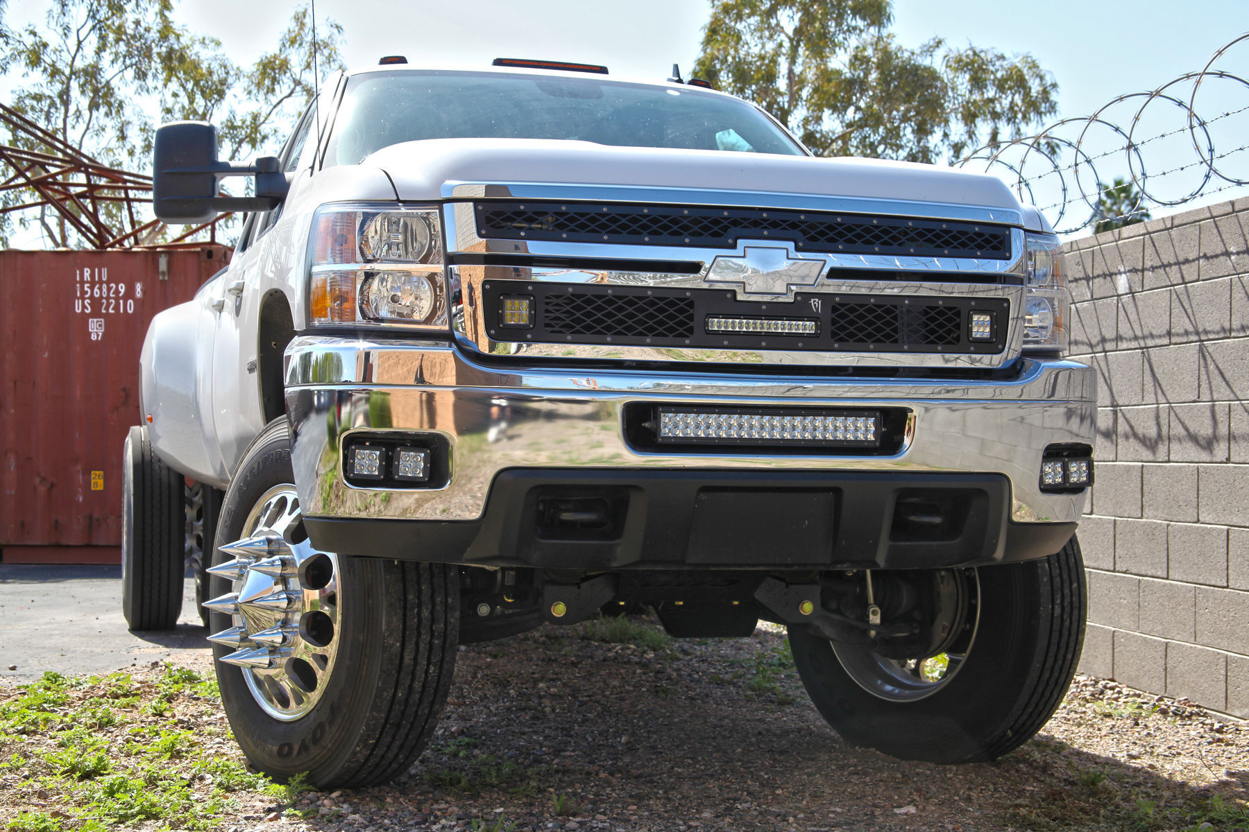 Chevrolet Silverado 3500 | Lifted Chevrolet 3500 with a Rigid Industries LED Grille