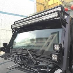 2016 Jeep Wrangler | Jeep Wrangler Upper Windshield Mounting Brackets for Dual LED Light Bars
