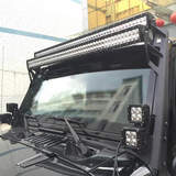 Jeep Wrangler Upper Windshield Mounting Brackets for Dual LED Light Bars