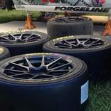 Forgeline GS1R wheels and Pirelli PZero Tires in the Paddock of Dean Martin's PWC GTS Ford Mustang Boss 302 at MidOhio SportsCar Course