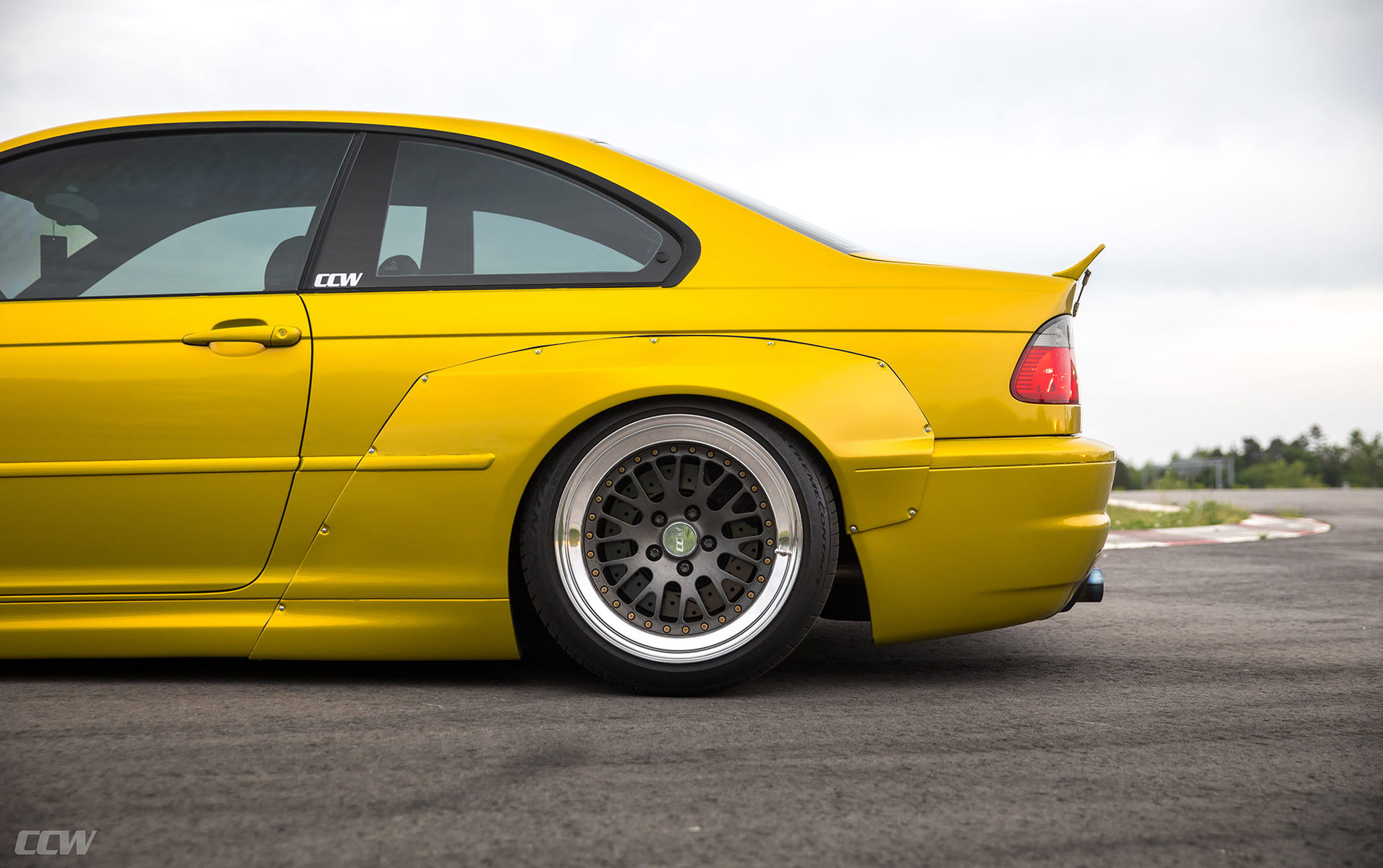 BMW M3 | Phoenix Yellow Pandem Widebody E46 M3 - CCW Classic 3 Piece Wheels