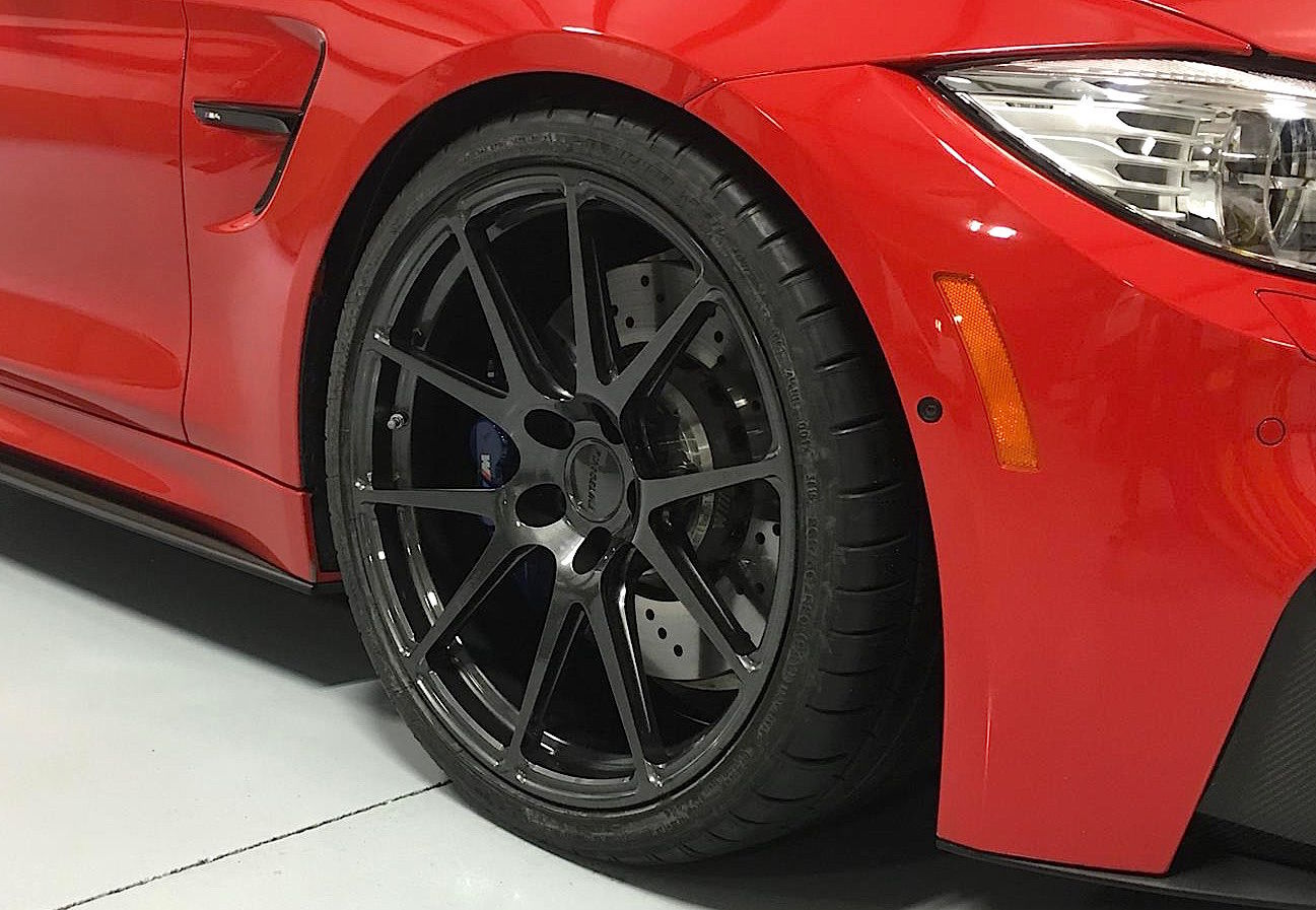 2016 BMW M4 | Red BMW F82 M4 on Forgeline One Piece Forged Monoblock GA1R Wheels