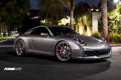 Matt Alpert's Porsche 991 C2S on Forgeline One Piece Forged Monoblock GT1 5-Lug Wheels