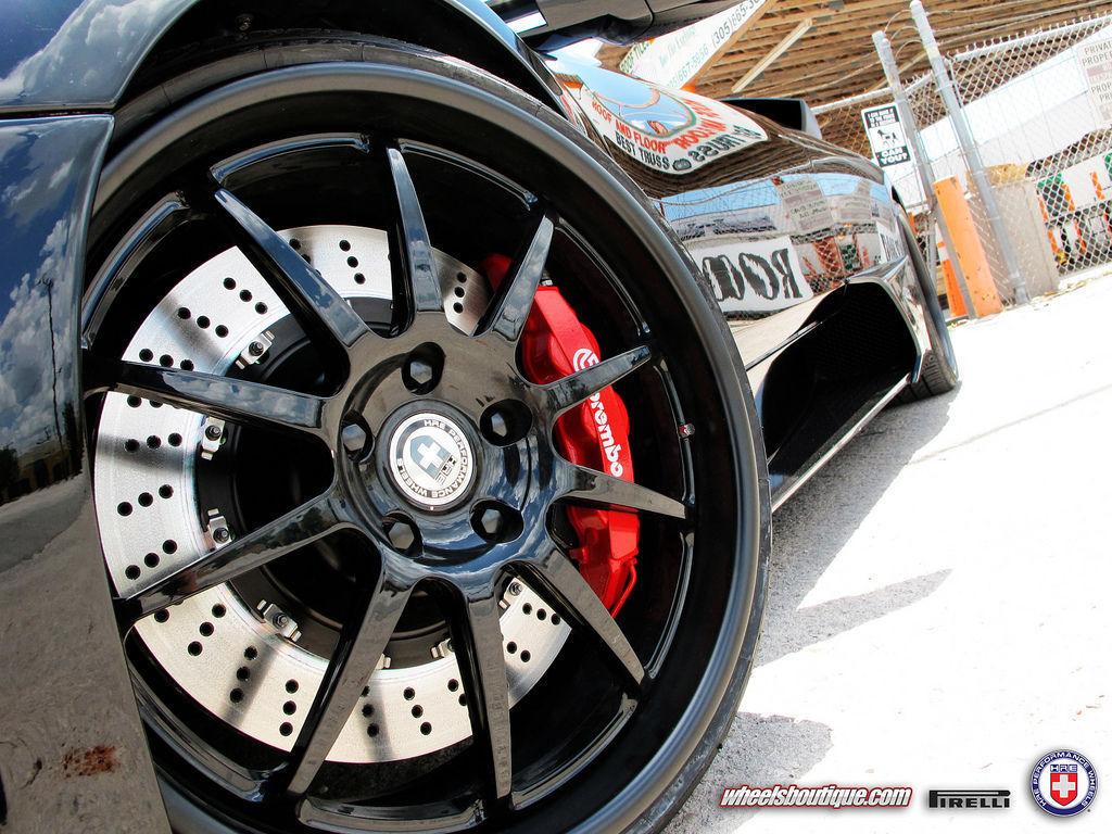 Lamborghini Murcielago   Lamborghini Murcielago on HRE Wheels
