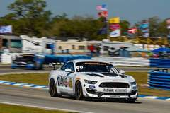 Jade Buford on the Pole at Sebring in the #60 Kohr Motorsportsord Mustang GT4 on Forgeline One Piece Forged Monoblock GS1R Wheels