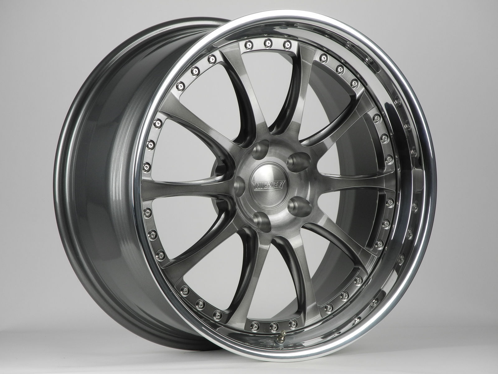 | Forgeline Performance Series GZ3 in Transparent Smoke with Exposed Hardware and Custom Center Cap