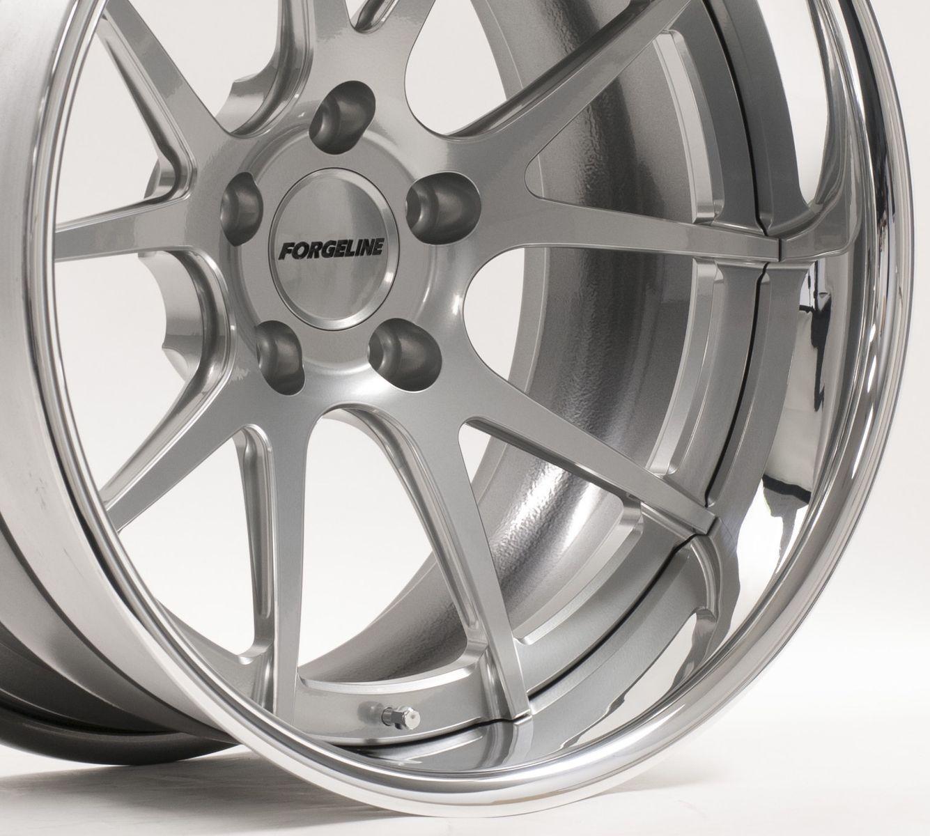 | Forgeline GA3C Concave Wheel in Hyper Silver Powder Coat