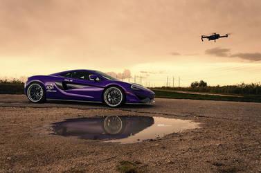 Purple McLaren 570S - ADV.1 Directional ADV10R Track Spec CS Series Wheels