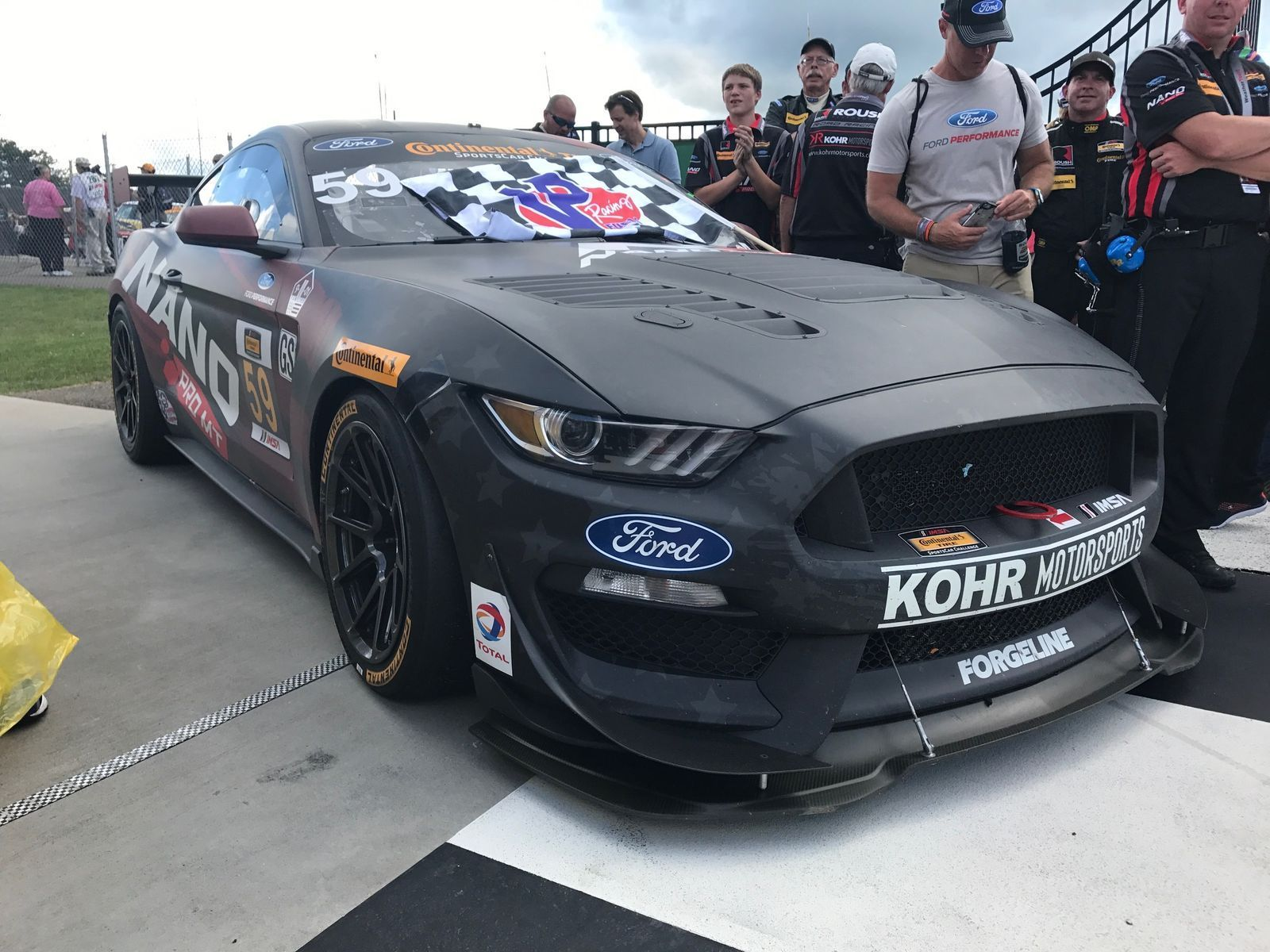 2017 Ford Mustang | Kohr Motorsports Mustang GT4 Wins at Watkins Glen on Forgeline One Piece Forged Monoblock GS1R Wheels