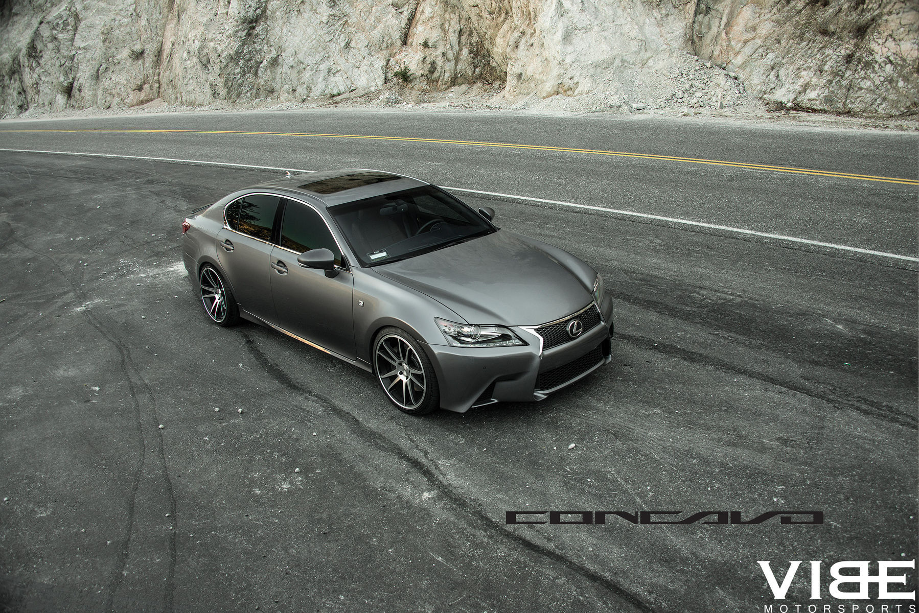 lowered gs350 f sport on concavo wheels full body shot. Black Bedroom Furniture Sets. Home Design Ideas