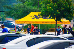 XPEL tent with free coffee! at Cars and Coffee San Antonio