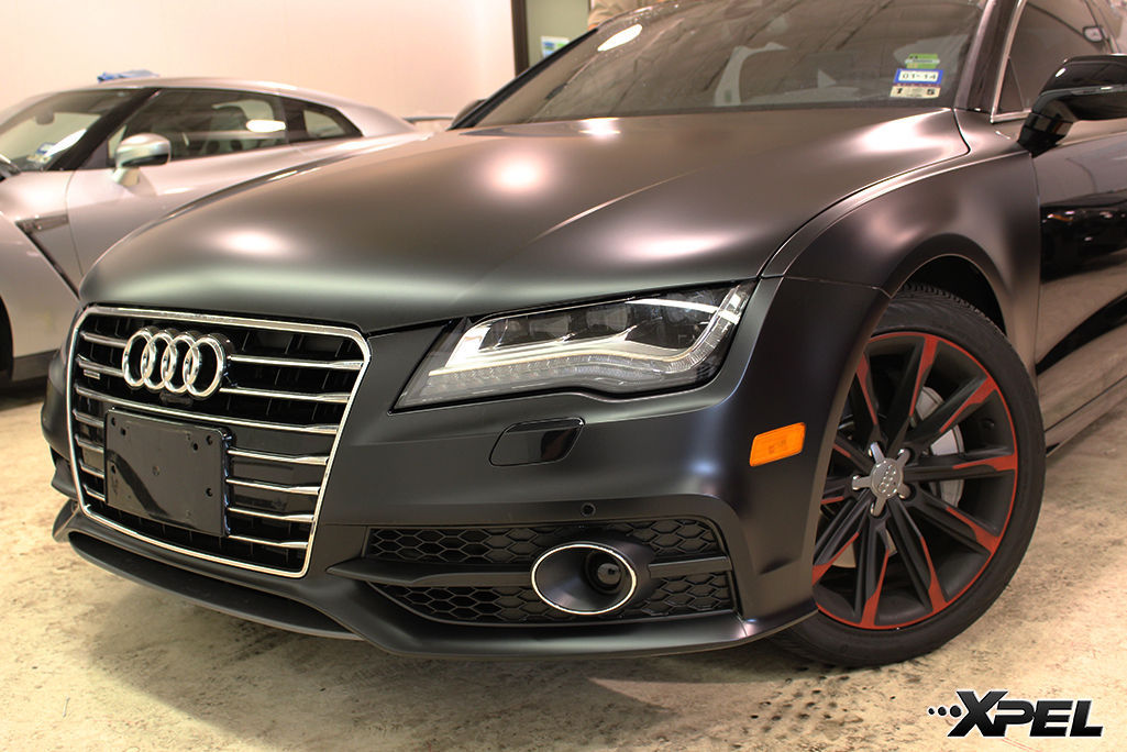Audi A7 | Audi A7 fully wrapped in XPEL STEALTH matte-finish paint protection film
