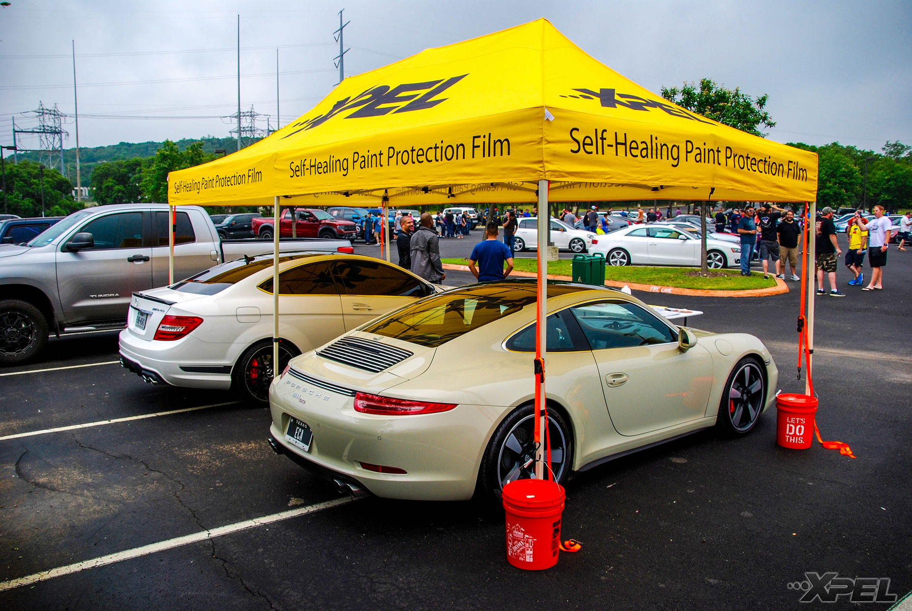 | XPEL Tent with Free Coffee at Cars and Coffee San Antonio