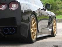 Doug Washburn's Nissan GT-R on Forgeline GA1R Deep Cap Wheels in Matte Gold