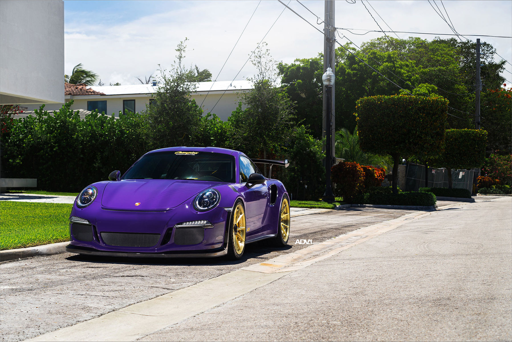 2017 Porsche 911 | ADV.1 Advanced Series | Purple Porsche GT3 RS