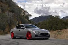 "Maserati Ghibli Q4 on 22"" Avant Garde M615 Wheels - Canyon Shot"