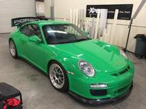 Stunning green Porsche with XPEL ULTIMATE paint protection film
