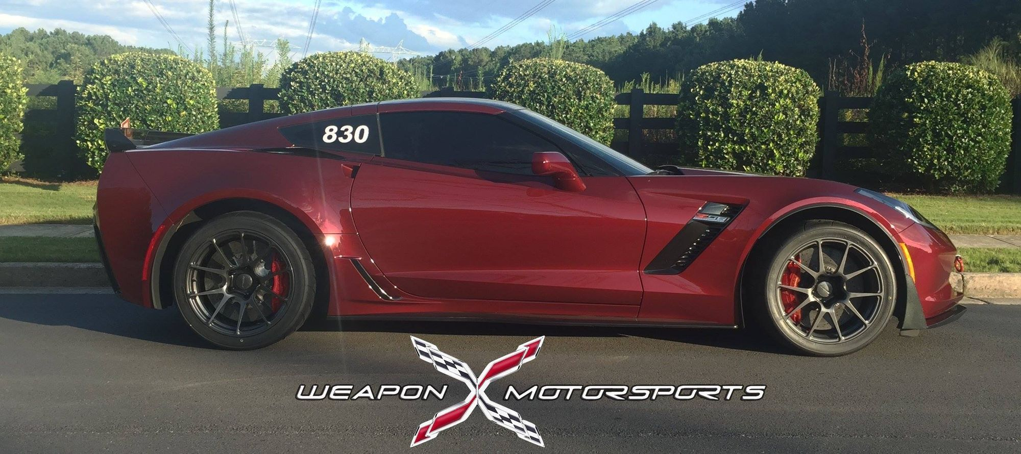 2016 Chevrolet Corvette Z06 | Eric Fleming's C7 Corvette Z06 on Forgeline One Piece Forged Monoblock GA1R Open Lug Cap Edition Wheels